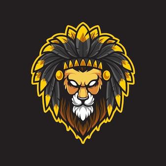 Ilustração do logotipo da cabeça de leão
