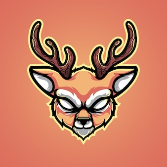 Ilustração do logotipo da cabeça de veado