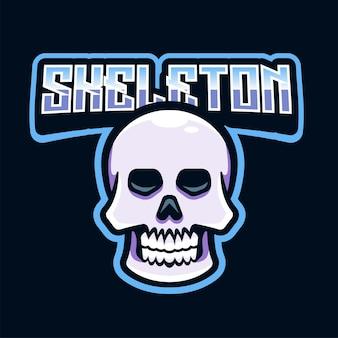 Ilustração do logotipo da caveira da mascote