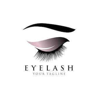 Ilustração do logotipo da extensão de cílios