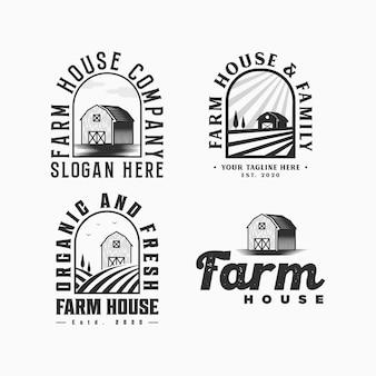 Ilustração do logotipo da fazenda vintage