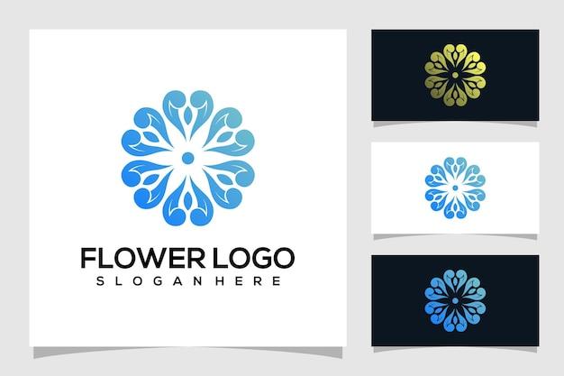Ilustração do logotipo da flor abstrata