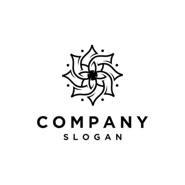 Ilustração do logotipo da flor elegante