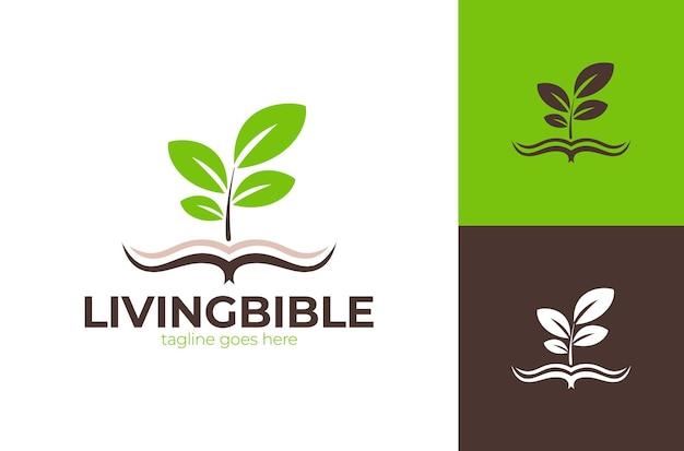 Ilustração do logotipo da igreja living bible