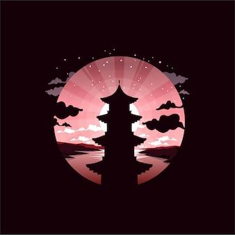 Ilustração do logotipo da lua do templo