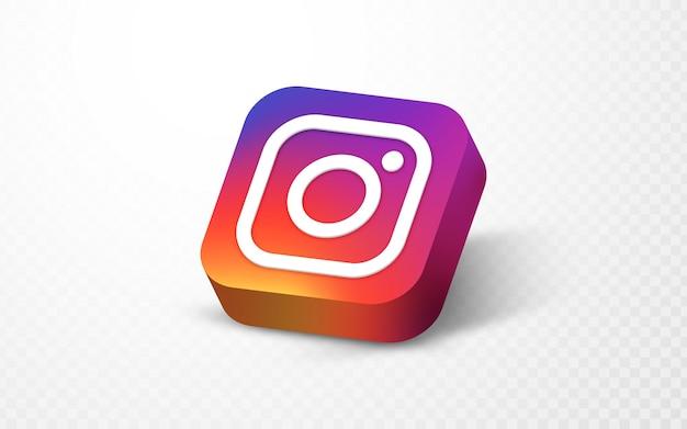Ilustração do logotipo da mídia social 3d do instagram