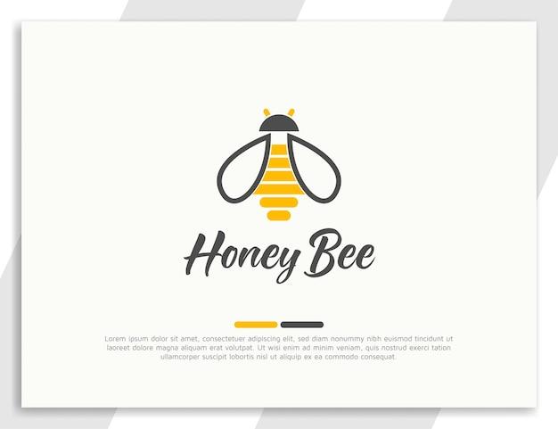 Ilustração do logotipo de abelha e colmeia