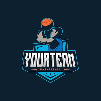 Ilustração do logotipo de basquete