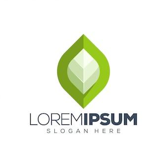 Ilustração do logotipo de folha