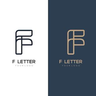 Ilustração do logotipo de luxo inicial com a letra f para sua empresa