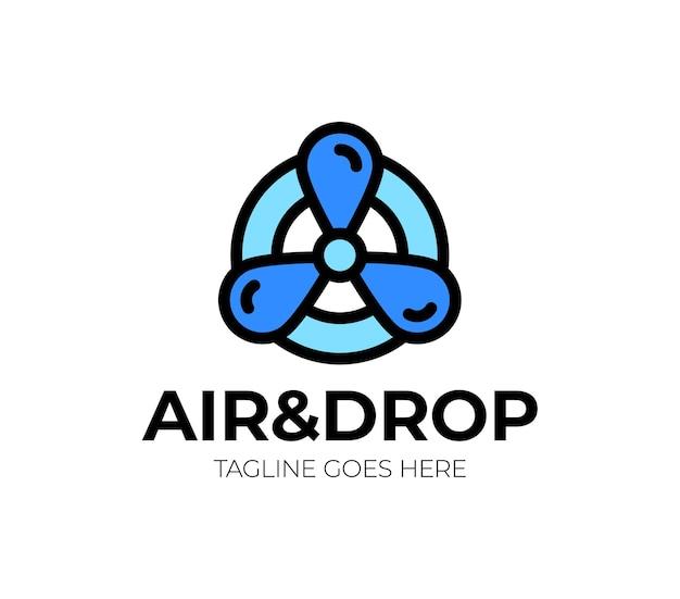 Ilustração do logotipo de resfriamento de ar.