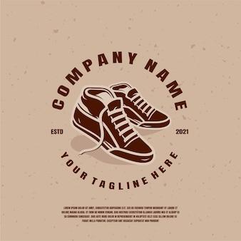 Ilustração do logotipo de sapatos