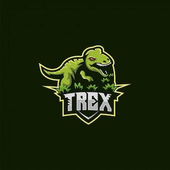 Ilustração do logotipo de t rex
