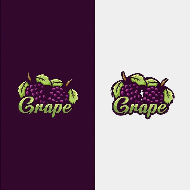 Ilustração do logotipo de uva