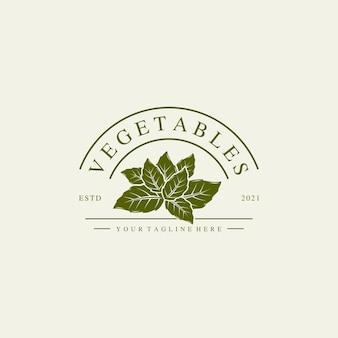 Ilustração do logotipo de vegetais