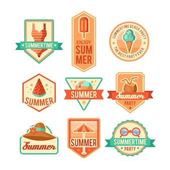 Ilustração do logotipo de verão. horário de verão, aproveite as suas férias.