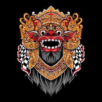 Ilustração do logotipo de vetor de barong balinês