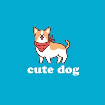Ilustração do logotipo do cachorro fofo