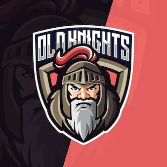 Ilustração do logotipo do cavaleiro do ícone do mascote do vetor