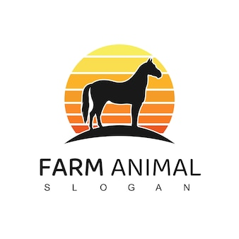 Ilustração do logotipo do cavalo
