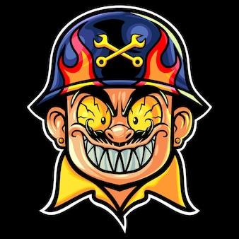 Ilustração do logotipo do crazy mechanics esport
