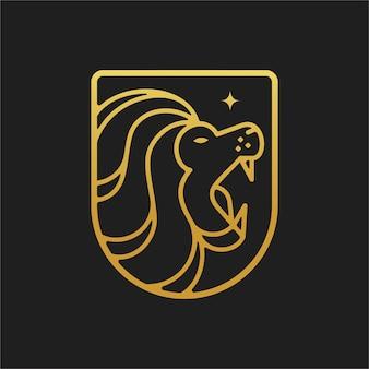Ilustração do logotipo do escudo de leão