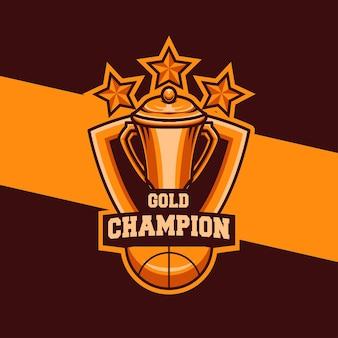Ilustração do logotipo do esporte de basquete