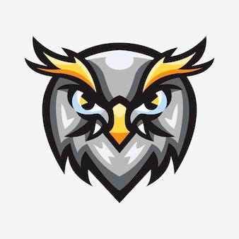 Ilustração do logotipo do esporte, mascote da águia-careca