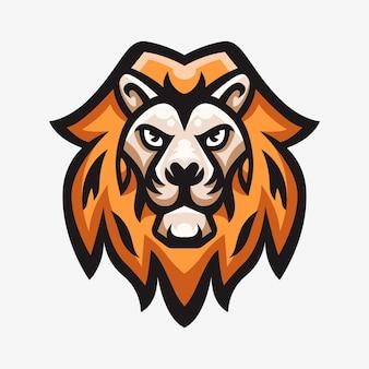 Ilustração do logotipo do esporte, mascote do leão
