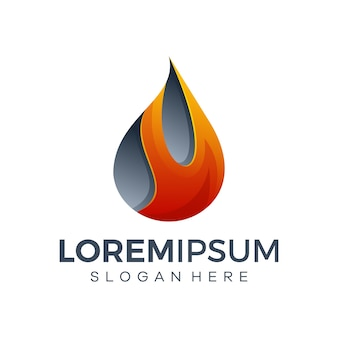 Ilustração do logotipo do fogo