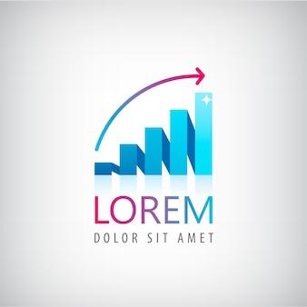 Ilustração do logotipo do gráfico de crescimento ector