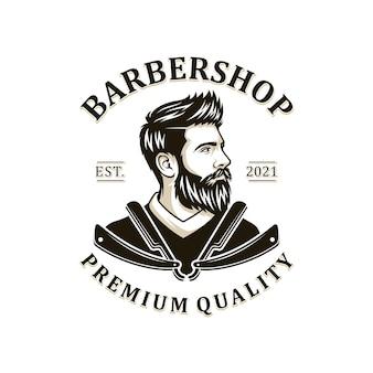 Ilustração do logotipo do homem de barba
