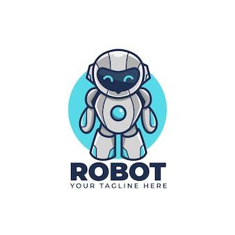 Ilustração do logotipo do mascote bonito dos desenhos animados