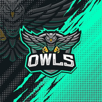 Ilustração do logotipo do mascote das corujas