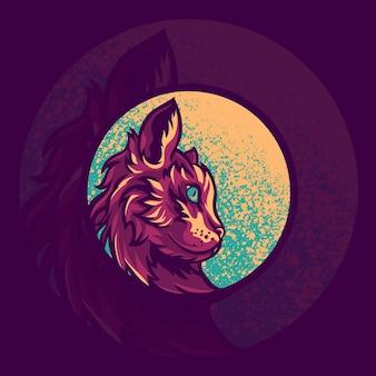 Ilustração do logotipo do mascote do animal gato