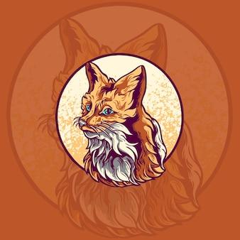 Ilustração do logotipo do mascote do animal raposa