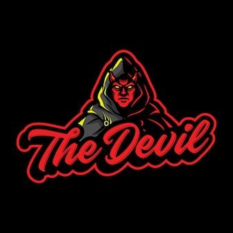 Ilustração do logotipo do mascote do demônio