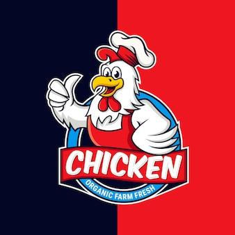 Ilustração do logotipo do mascote do frango galo