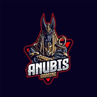 Ilustração do logotipo do mascote do jogo anubis