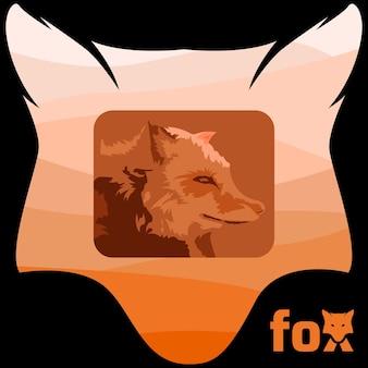 Ilustração do logotipo do mascote raposa