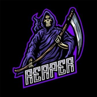 Ilustração do logotipo do mascote skull reaper
