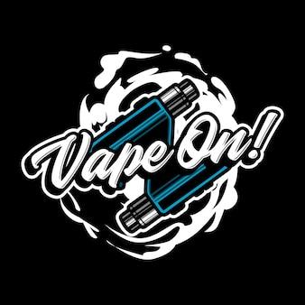 Ilustração do logotipo do mascote vape