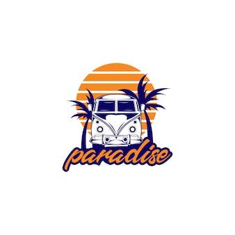 Ilustração do logotipo do paraíso