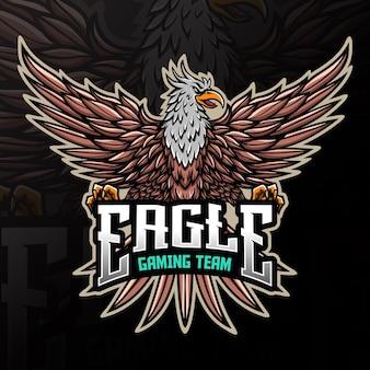 Ilustração do logotipo do pássaro águia esport animal