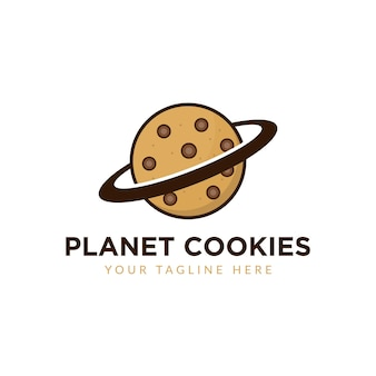 Ilustração do logotipo do planeta cookie