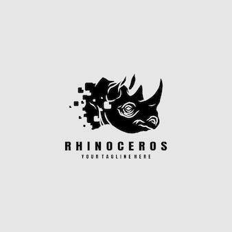 Ilustração do logotipo do rinoceronte