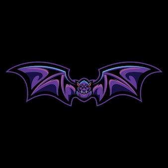 Ilustração do logotipo do vampire bat esport Vetor Premium