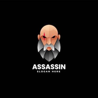 Ilustração do logotipo do vetor assassin gradient colorful style