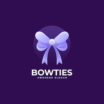 Ilustração do logotipo do vetor bowtie gradient colorful style