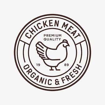 Ilustração do logotipo do vetor de frango